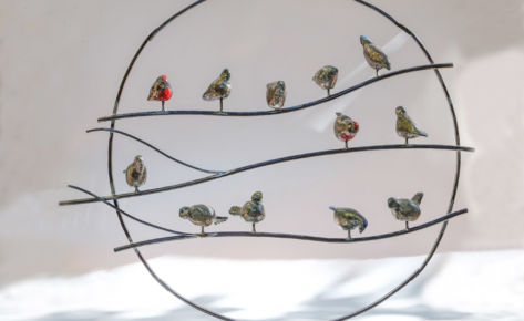 L'arbre aux oiseaux raku