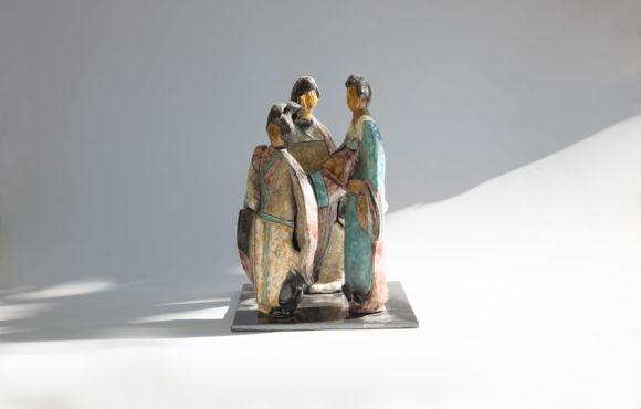 Les trois japonnaises raku